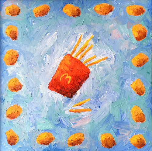Chicken Nugget Art by Dianna Sanchez