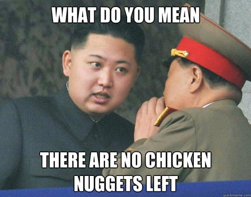 Chicken nugget meme Kim Jung Un