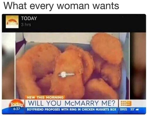 Chicken nugget meme proposal